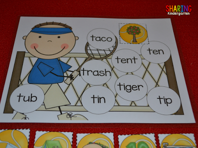 All About the Letter T: matching words to images for little learners