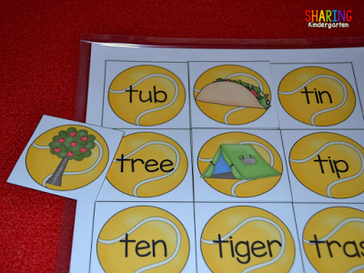 All About the Letter T: word and image matching game