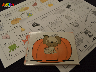pumpkin themed phonics fun for kinders