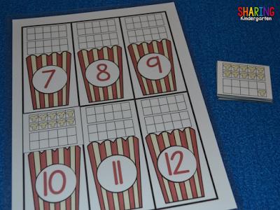 POPCORN Ten Frame number sense game