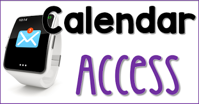 Calendar Access with an iWatch