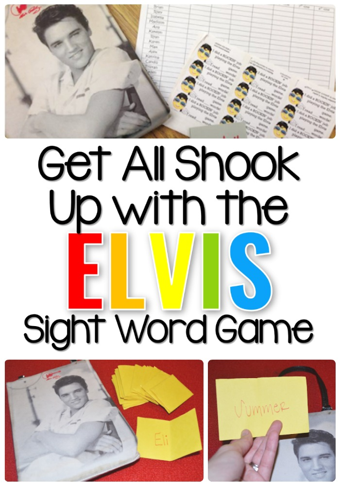 Get all shook up with the Elvis Sight Word Game