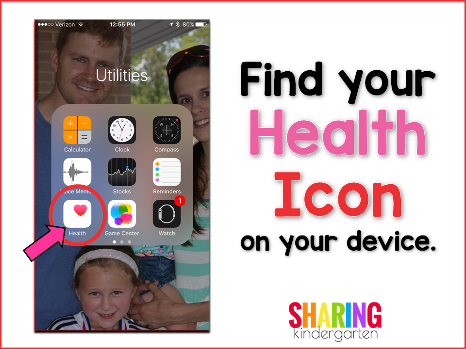 Find your Health Icon on your device.
