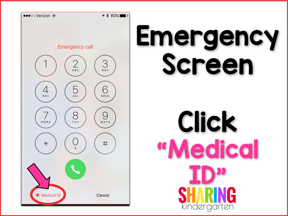 Emergency Screen with the Medical ID tab.