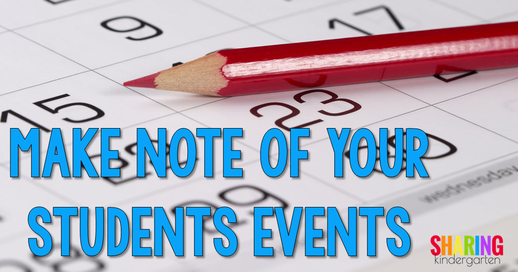 Make note of your students events