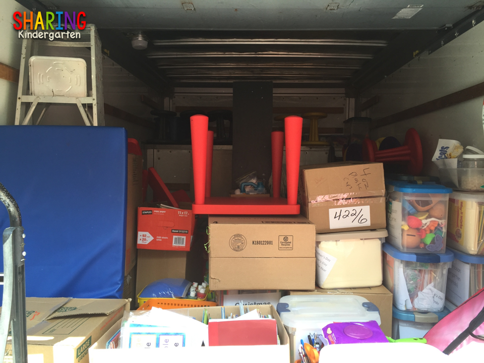 This is what moving a classroom looks like.