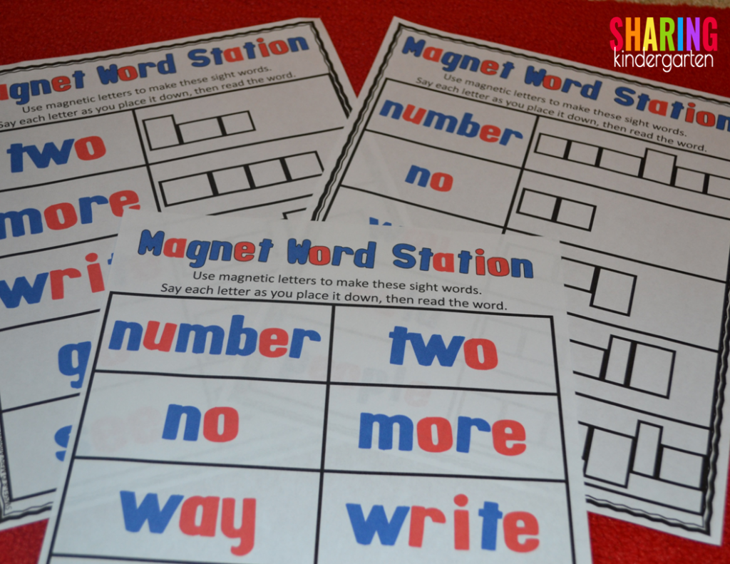 magnetic word building station