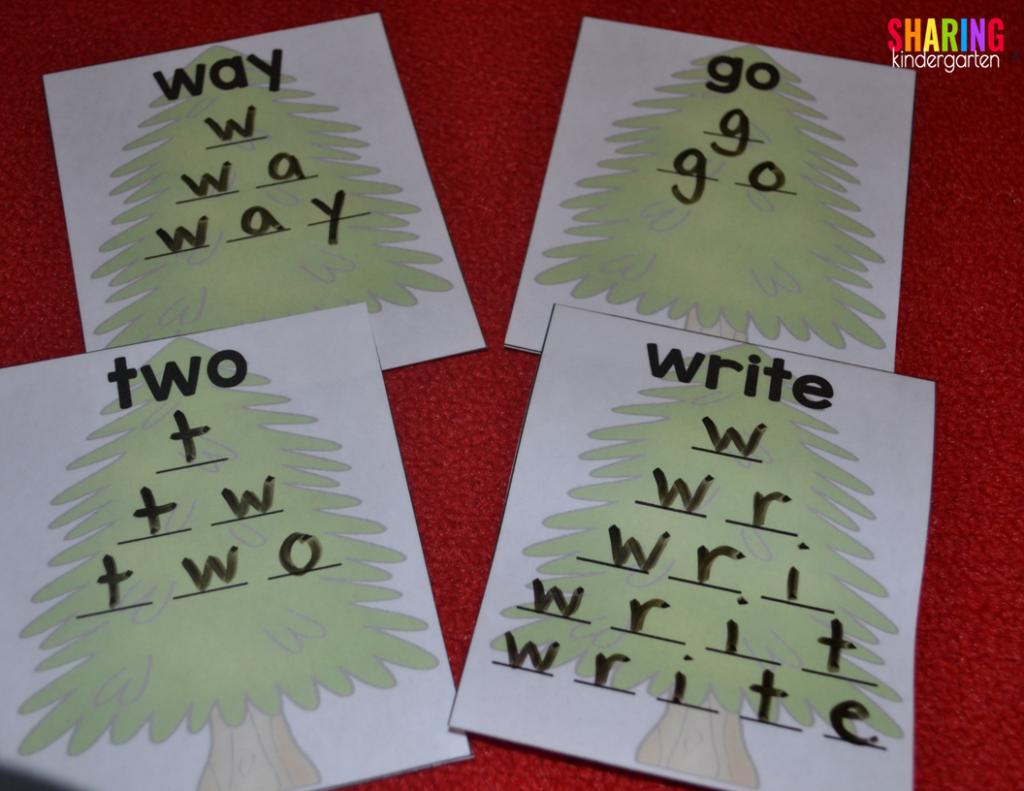 Printable sight word trees