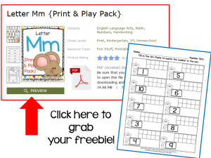 Click to grab your freebie ten frame activity