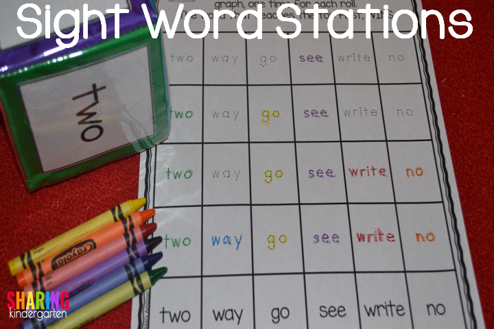 Sight Word Stations Fry Style