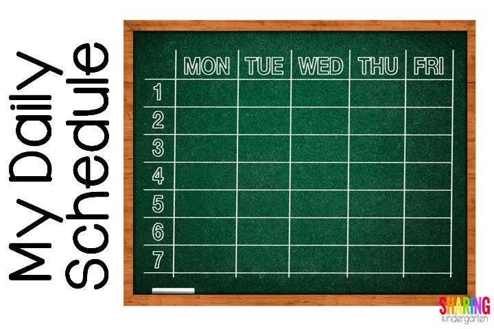 My Daily Kindergarten Schedule