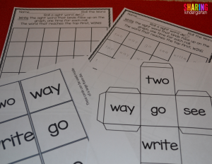 Roll the Word Sight Word Activity