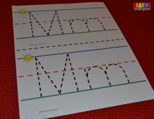 Sensory phonics mats for letters