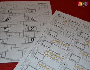 Ten frame printables without MONKEY business