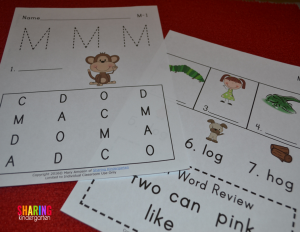 Letter Mm phonics printables