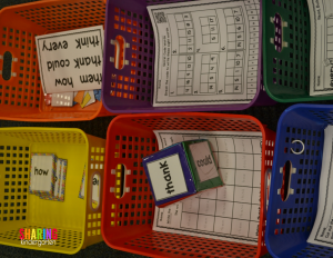 Sight Word Station Basket Prep