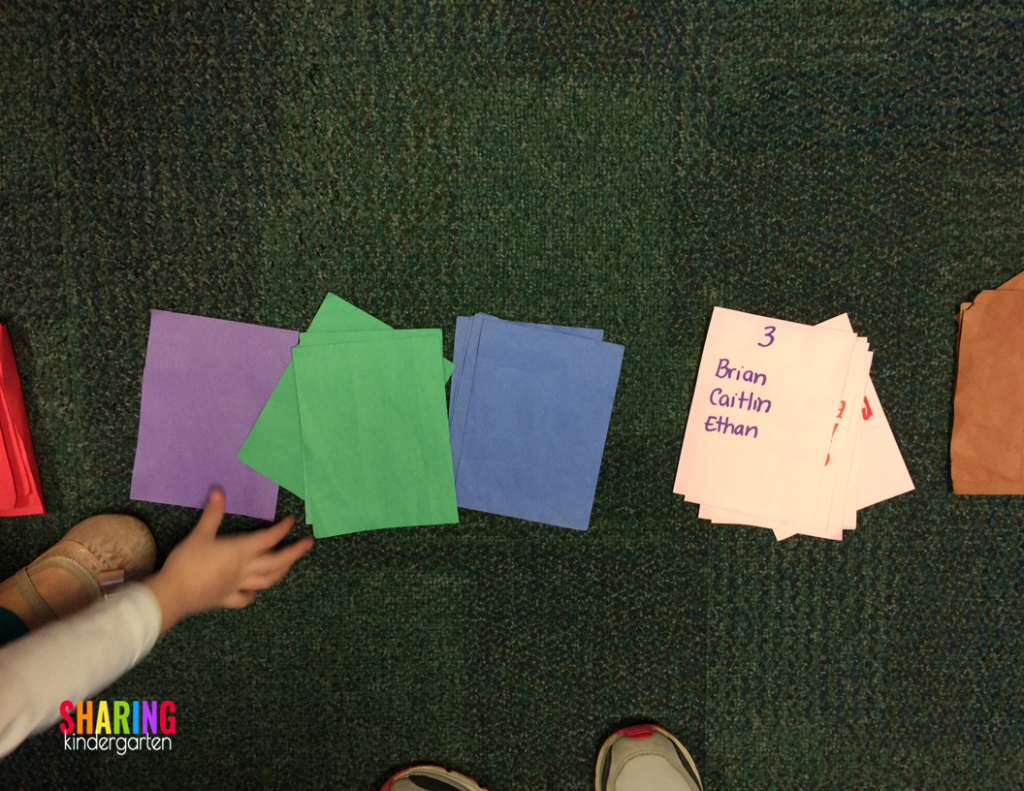 Color cards for sight word stations