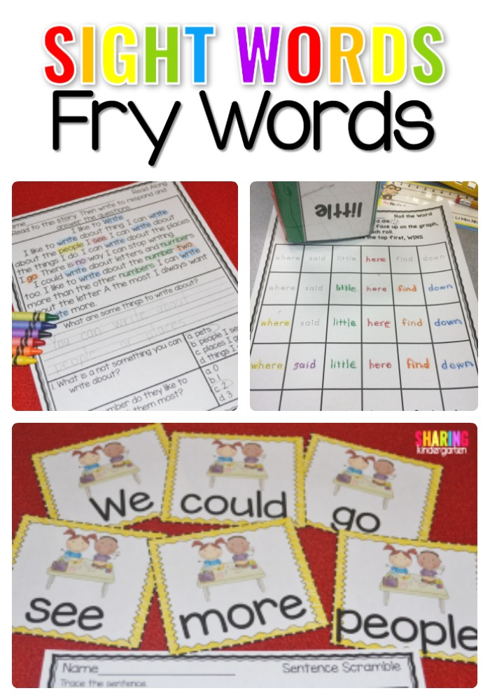 Sight Words Fry Words