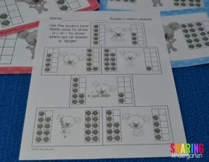 comparing numbers printable