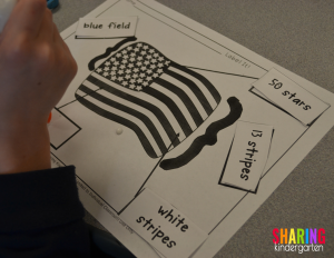 Flag labeling activity