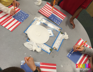 Flag making art project