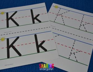 Letter Kk sensory mats