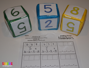 Check out this FUN way to add three numbers