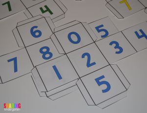 check out these FUN number cubes and this learning game