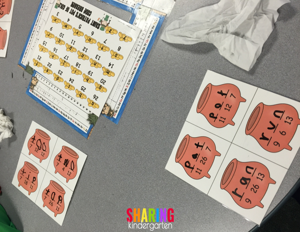 Center action with sight words
