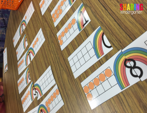 ten frame number puzzles for addition