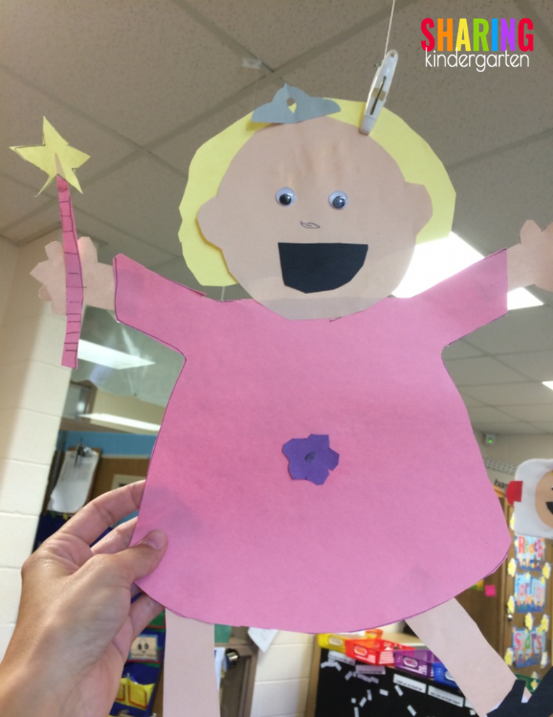 Students love using art to make book characters like Alice the Fairy