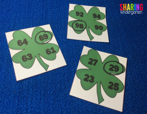 comparing numbers shamrocks