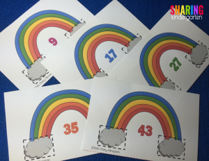 Numbers before and after rainbows