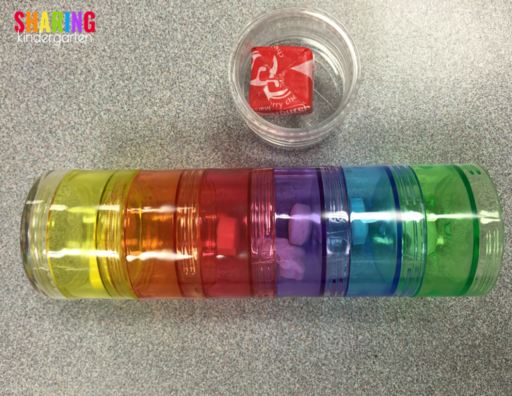 Color Coded Pill Holders for center time success