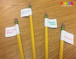 how to create an easy encouragment pencil flag