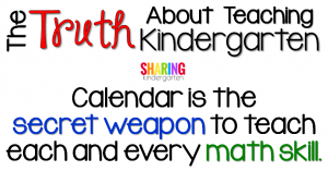 Calendar is the secret weapon to teach each and every math skill.