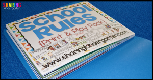 Easy PREP and Storage of School Rules Print and Play Pack
