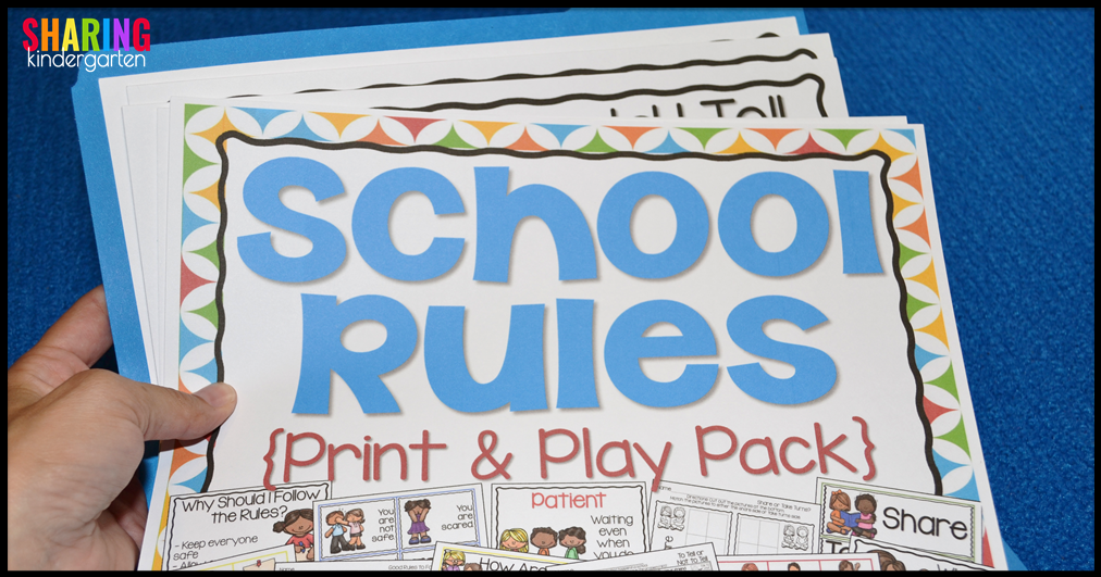 how to store your School Rules print and play pack