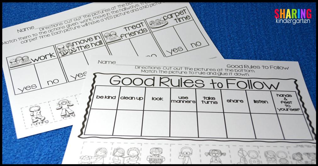 School Rules Sharing Kindergarten
