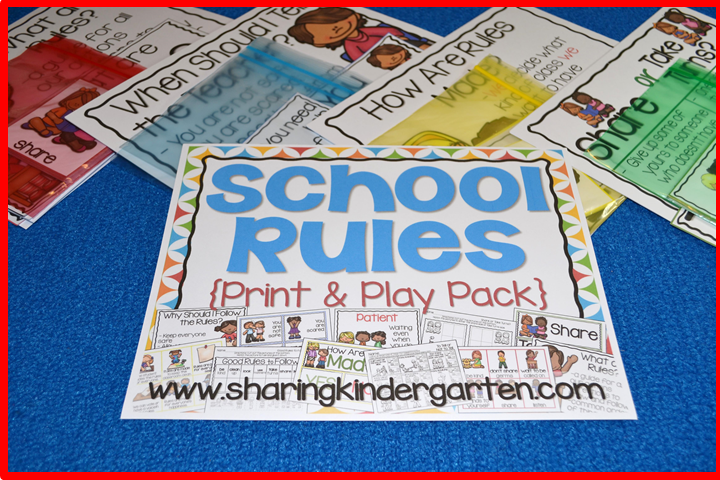 School Rules Print & Play Pack