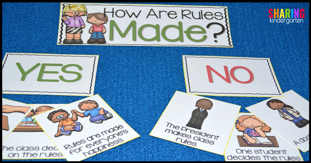How Are Rules Made? Pocket Chart Activity