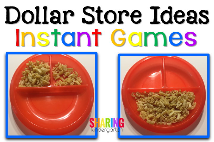 sorting activity with ABC pasta