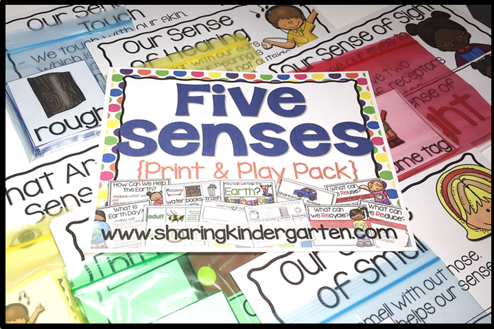 Five Senses {Print & Play Pack}