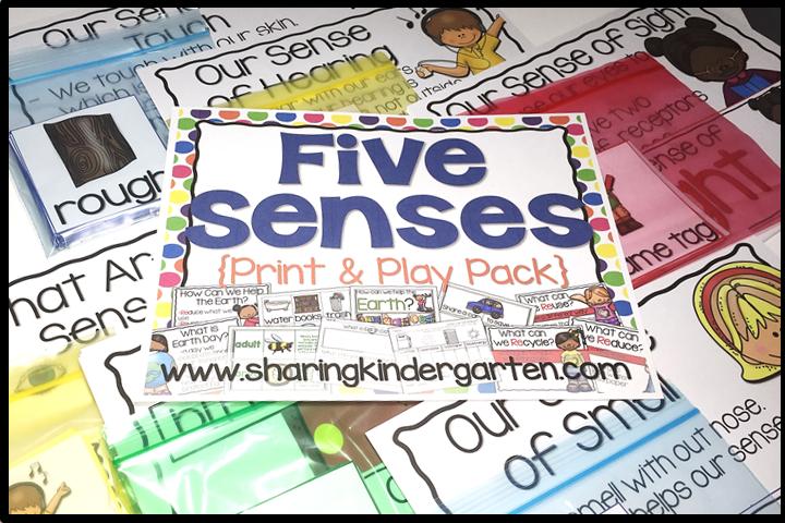 Five Senses {Print & Play Pack}