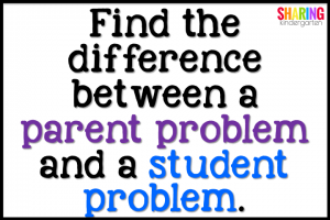 Find the difference between a parent problem and a student problem.