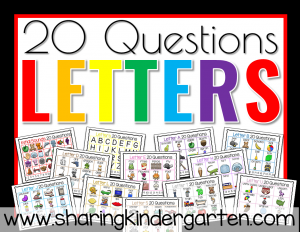 20 Questions Letter Activities
