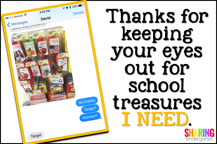 Thanks for keeping your eyes out for school treasures I NEED.