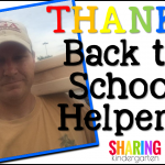 Thanks Back to School Helpers