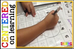 Center ideas for writing numbers