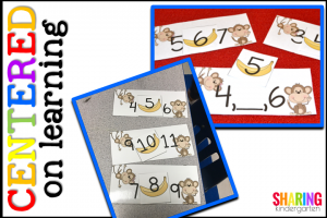 Centered on Learning: Monkey In the Middle Number Sense